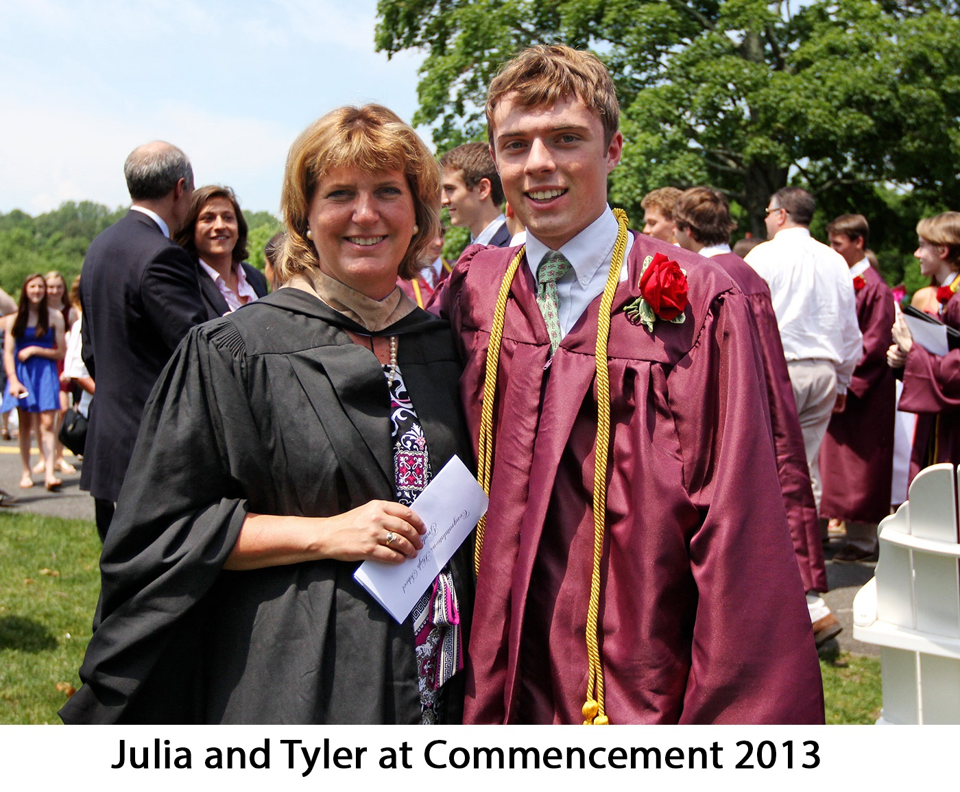 Julia and Tyler St Lukes Commencement