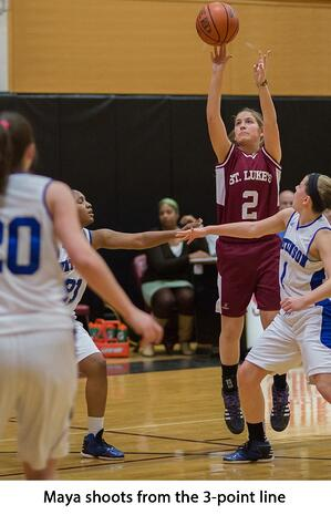 Maya Klein shoots from the 3 point line_wo