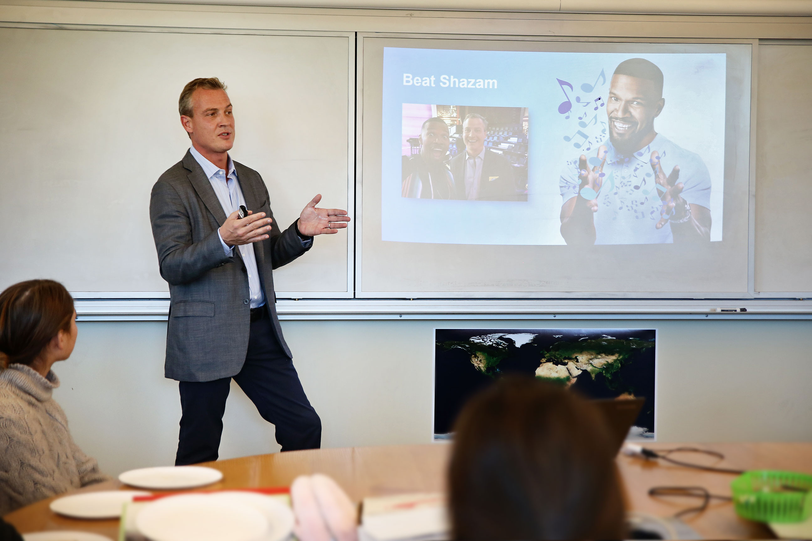 Rich Riley CEO of Shazam presents at St. Luke's School Lunch and Lead speaker series
